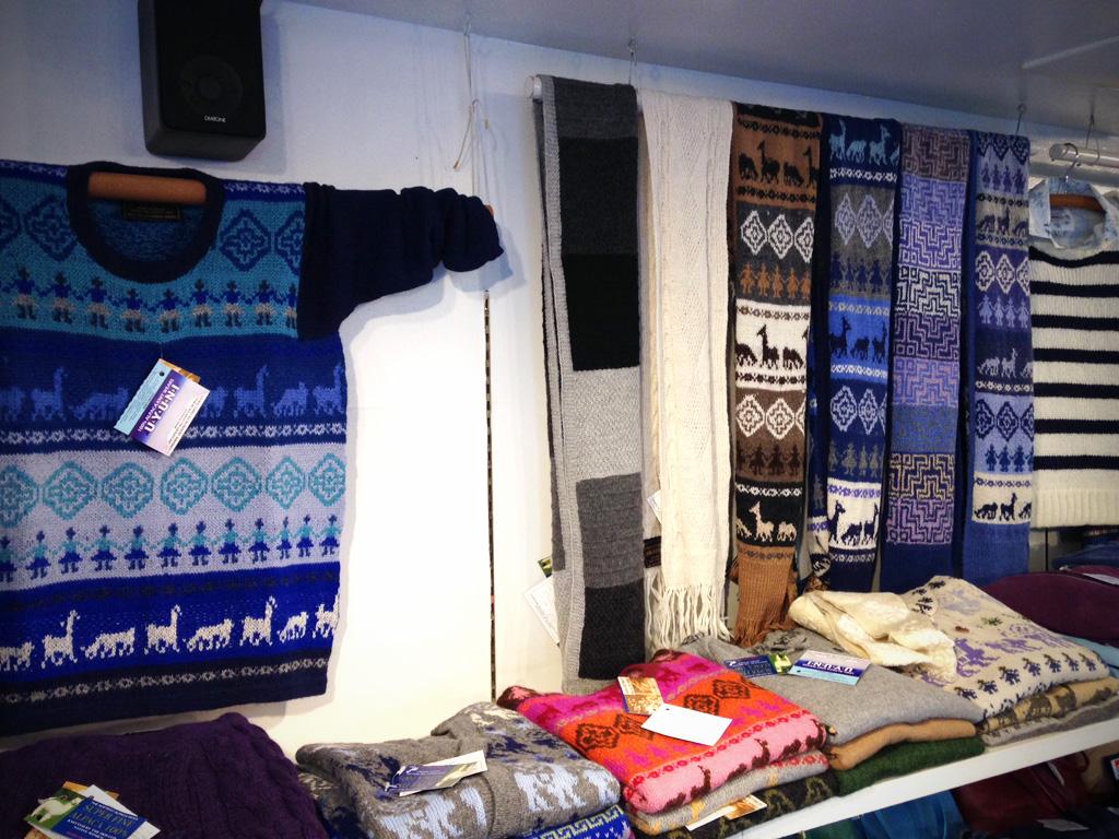 アルパカセーター手編み