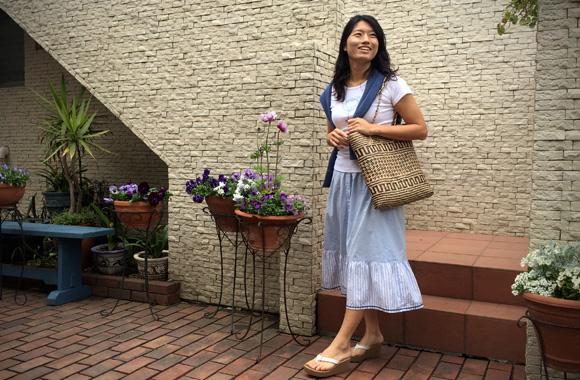 フライスTシャツ ハートプリント/フレンチ袖【ホワイト】