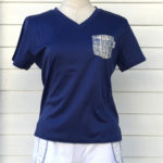 胸ポケット付半袖VネックTシャツ【レディース全9色】#259x